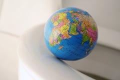 Welt auf dem Abgrund Stockfoto