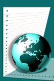 Welt auf Papier lizenzfreie abbildung
