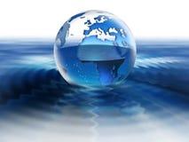 Welt auf Wasser lizenzfreie stockfotos