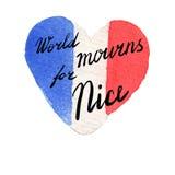Welt beklagt für Nizza, Frankreich vektor abbildung
