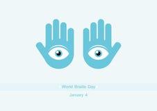 Welt-Blindenschrift-Tagesvektor Lizenzfreies Stockfoto