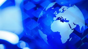 Welt-cybersecurity, globale Cyberangriffe vektor abbildung