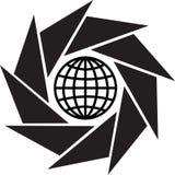 Welt in den Blendenverschlüssen lizenzfreie abbildung