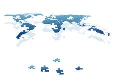 Welt in den Stücken als zackigen Ziegelsteinen Lizenzfreies Stockfoto
