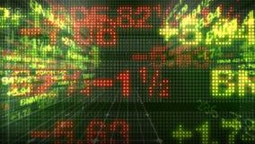Welt der Börse-Daten-Börsentelegraf-3D vektor abbildung