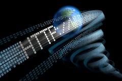 Welt in der digitalen Turbulenz. Unscharfe Version Lizenzfreie Stockfotografie