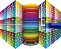 Welt der Farbe, Welt von Farben Stockfotografie