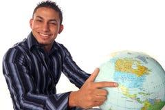 Welt in der Hand Stockbild