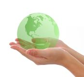 Welt in der Hand lizenzfreies stockbild
