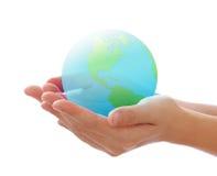 Welt in der Hand Lizenzfreie Stockbilder