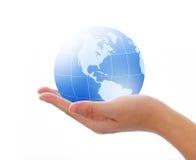 Welt in der Hand Lizenzfreie Stockfotografie