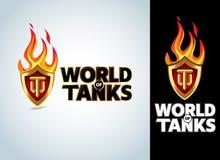 Welt des Behälterspiels, Militärt-shirt Grafikdesign, Vektorillustration lizenzfreie abbildung