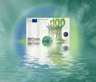 Welt des Euro 100 Stockbild