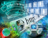Welt des Internets Stockbild