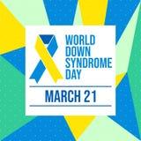 Welt-Down-Syndrom Tag auf abstraktem Hintergrund - Vektor stock abbildung