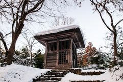 Welt-Erbe-Choson-jitempel, Hiraizumi, Iwate, Japan lizenzfreie stockfotografie