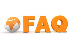 Welt-FAQ-Orange lizenzfreie abbildung