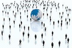 Welt globalisiert. Stockbild
