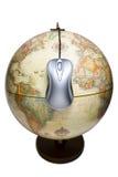 Welt ist ein Mäuseklicken weg Stockfoto