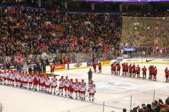 Welt 2015 Junior Hockey Championships, Air Canada zentrieren lizenzfreie stockfotografie