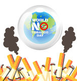 Welt kein Tabak-Tagesplakat Lizenzfreie Stockfotografie