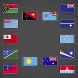 Welt kennzeichnet Sammlung, Ozeanien lizenzfreie abbildung