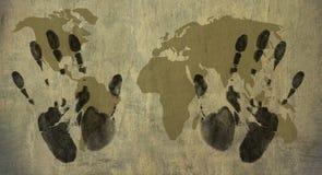 Welt in meinen Händen lizenzfreie abbildung