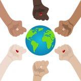 Welt rassisch und Gleichberechtigung der Geschlechter Einheit, Alliance, Team, Partner-Konzept H?ndchenhalten, das Einheit zeigt  stock abbildung