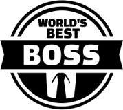 Welt-` s bester Chefknopf Stockfoto