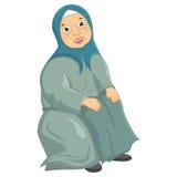 Alte Frau, die Vektor-Illustration stationiert lizenzfreie abbildung