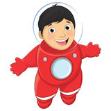 Jungen-Astronaut Vector Illustration Lizenzfreies Stockfoto