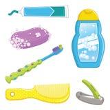 Badezimmer-Ausrüstungs-Vektor-Illustration lizenzfreie abbildung