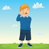 Kinderzahn-Schmerz-Vektor-Illustration stock abbildung