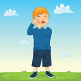 Kinderzahn-Schmerz-Vektor-Illustration Stockbild