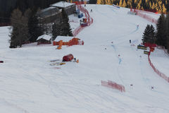 Welt Ski Men Ita Downhill Race Stockbild