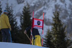 Welt Ski Men Ita Downhill Race Lizenzfreie Stockfotos