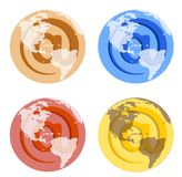 Welt@ Symbol Stockbild