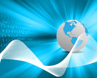 Welt und binär Code Lizenzfreies Stockfoto