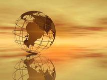 Welt und Himmel Lizenzfreie Stockfotos