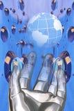 Welt und Himmel Stockfotos
