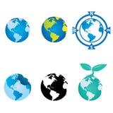 Welt-und Kugel-Design Stockbilder