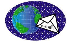 Welt und message2 Lizenzfreies Stockbild