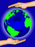 Welt in unseren Händen 1 vektor abbildung