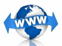 Welt WWW stock abbildung
