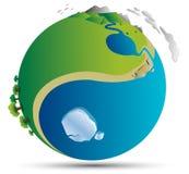 Welt-yin Yang-Vektor Lizenzfreie Abbildung