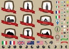 Weltanziehungskräfte Stockbilder
