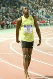 Weltathletik-Schluss 2009 des Usain Schraubemens-100m Stockfotografie