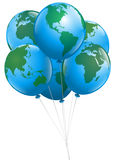 Weltballone Stockfotos