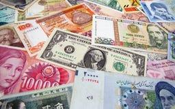 Weltbanknoten 3 Stockfotos