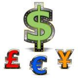 Weltbargeld Stockfotografie